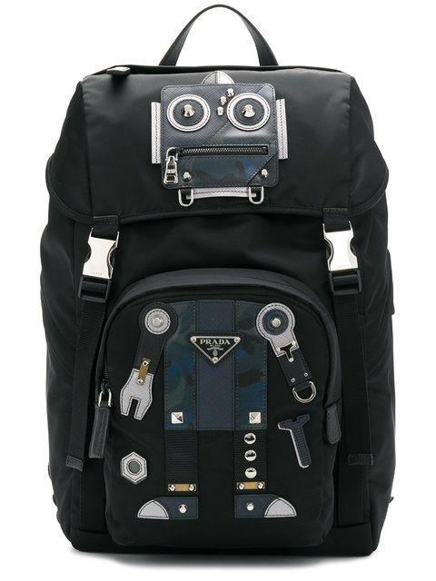 f17594c782be Prada robot motif backpack