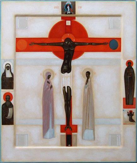 IKONA UKRZYŻOWANIA (w klejmach postaci świętych oraz ikona Zmartwychwstania - Zstąpienia do otchłani) - from http://www.touchofart.eu/Greta-Maria-Lesko/gmar3-IKONA-UKRZYZOWANIA-w-klejmach-postaci-swietych-oraz-ikona-Zmartwychwstania-Zstapienia-do-otchlani/