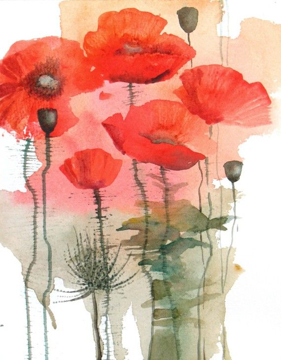 need to loosen up my technique and re-visit poppies