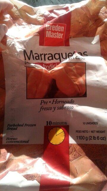 Marraquetas congeladas BredenMaster  254 Calorias x 100 g 8.1 g proteinas x 100 g 1.1 g grasa x 100 g 53 g de carbohidratos x 100 g  472 mg de sodio x 100 g