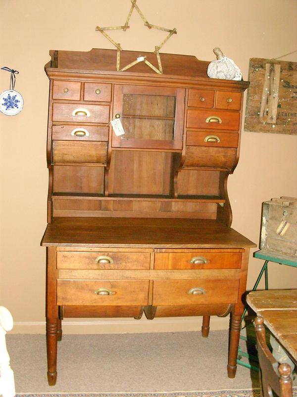 baker s belly flour wooden bakers itm hutch drawers including antique top cabinet possum ebay