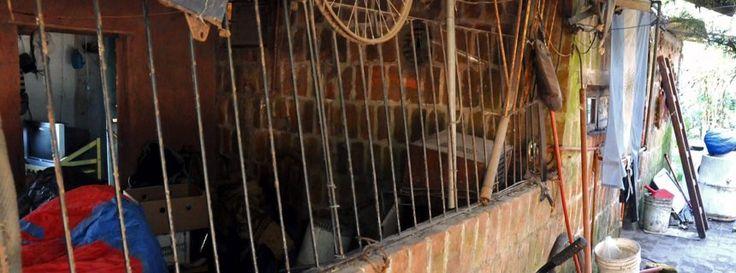 Berichten lokaler Medien zufolge hatte der 66-jährige frühere Maurer einen Holzkäfig mit Gitterstäben im hinteren Teil seines Hauses errichtet und darin seinen 32-jährigen an Autismus leidenden Sohn sowie seine 61 Jahre alte Frau gefangen gehalten, die ebenfalls unter psychischen Problemen leidet.