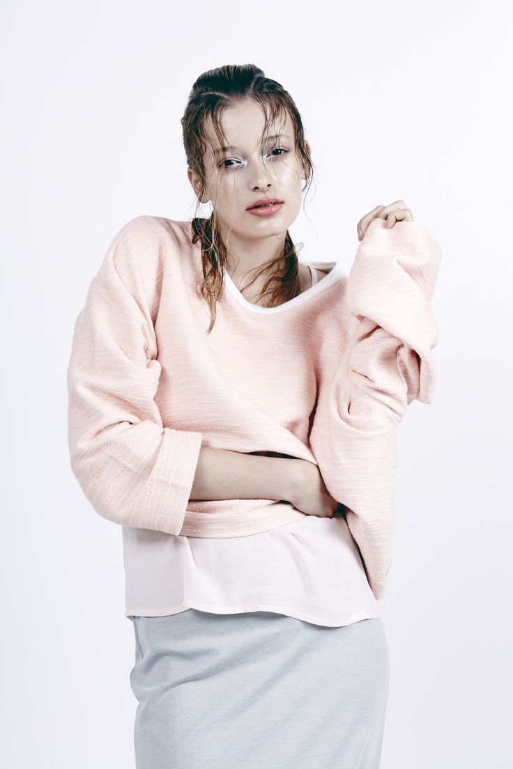 """Formula sweater.  Kuwaii SS 14/15 """"Rationale"""" Collection. Image by Daniel Gurten. Hair/Make-up by Deborah Brider. Modeled by Jade @ IMG."""