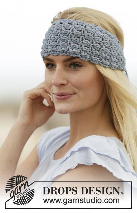 "Crochet DROPS head band in ""Big Merino"". ~free pattern DROPS Design"