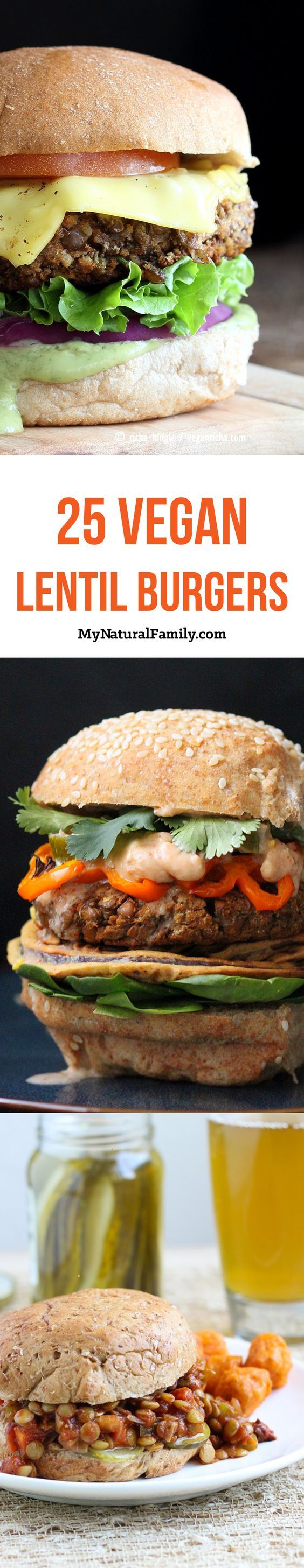 25 of the Best Vegan Lentil Burger Recipes