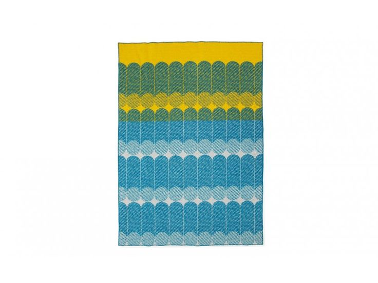 Koc Ekko żółto-niebieski — Narzuty i koce Normann Copenhagen — sfmeble.pl #yellow #design