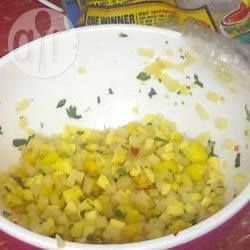 Pittige salsa van mango en perzik @ allrecipes.nl