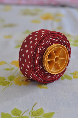 Storing binding on a spool
