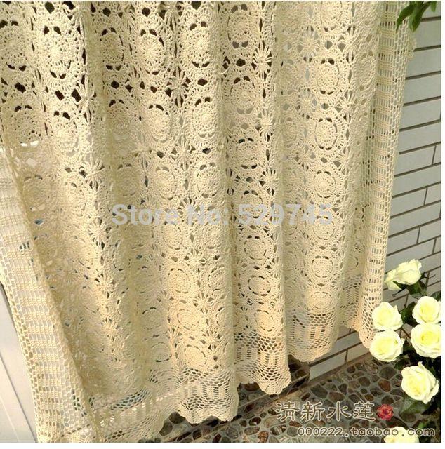 decorazioni di natale handmade del crochet di cotone pastorale rettangolo tende fiori di pizzo copriletto tovaglia telo di copertura