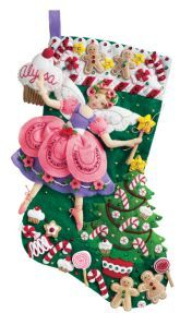 Sugar Plum Fairy Bucilla Christmas Stocking Kit