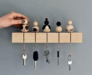 Les 25 meilleures id es de la cat gorie porte cl mural - Porte clef pour ne pas perdre ses clefs ...