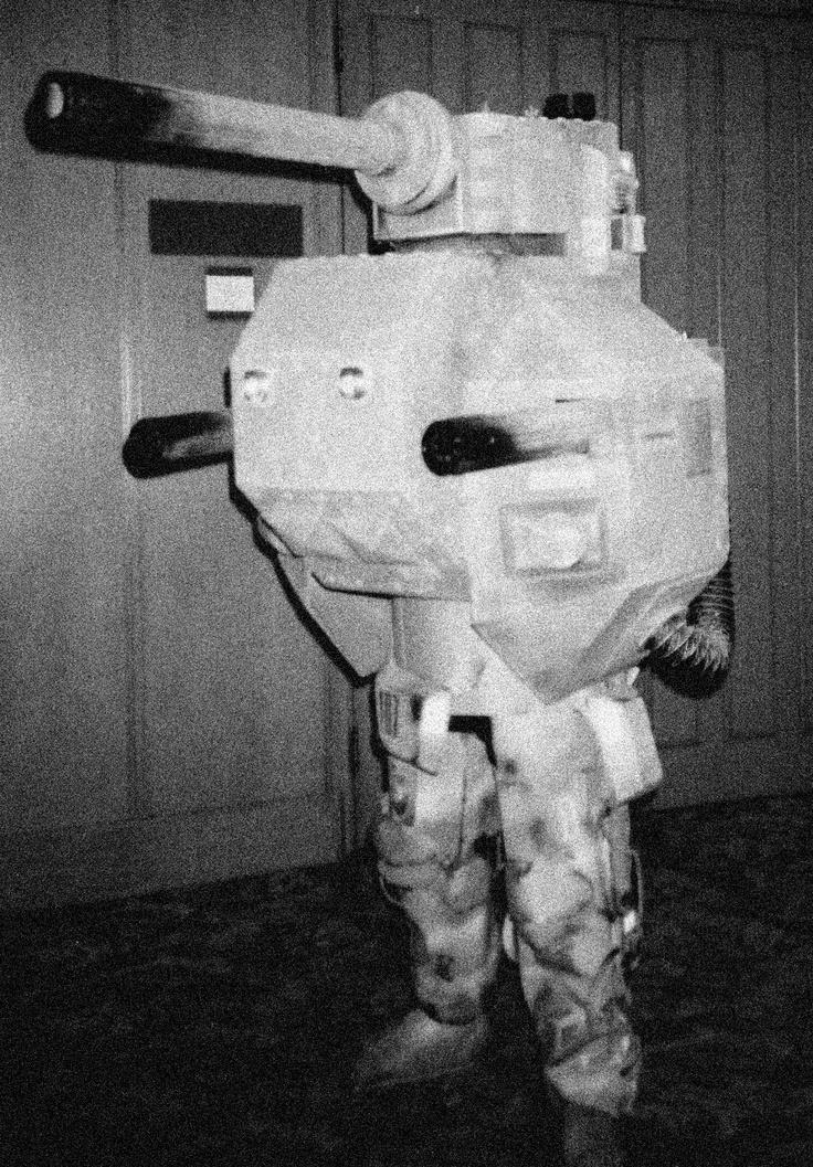 Steampunk armoured combat suit.