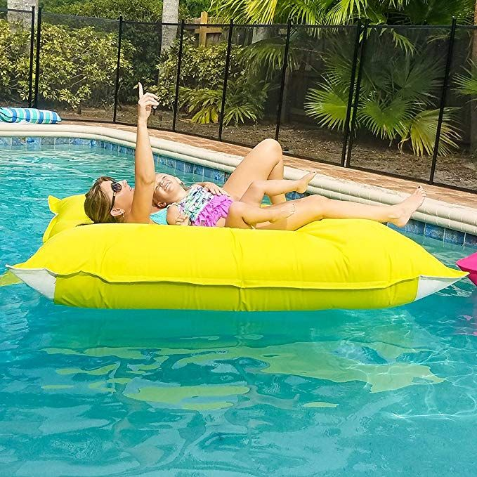 Sundale Outdoor Luxury Inflatable Swimming Pool Float Bed ...