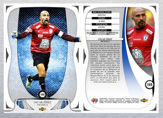 Card: Oscar Pérez # 186 Club: Pachuca F. C. Colección: Liga Mx