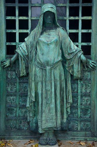 thebookof8: Tomb Door 5, Pere Lachaise Cemetery (by Peter Cook UK)