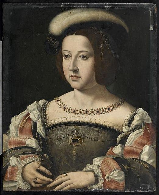 RETRATO DE LA INFANTA LEONOR DE AUSTRIA SIGLO XVI HIJA DE JUANA LA LOCA Y FELIPE EL HERMOSO