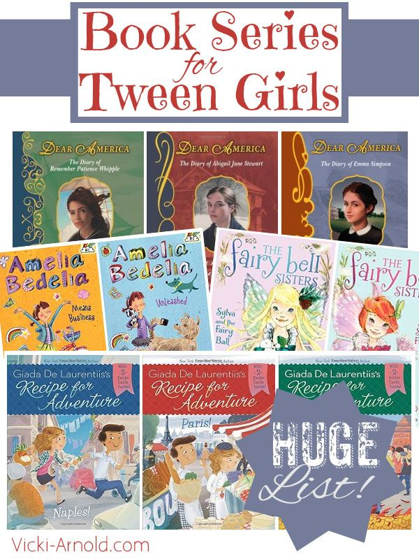 Book Series for Tween Girls - Contemporary Fiction - Book series give kids a chance to get to know the characters in a story over many different situations. They are wonderful for avid readers. This book list is geared for girls 8-12 years-old.