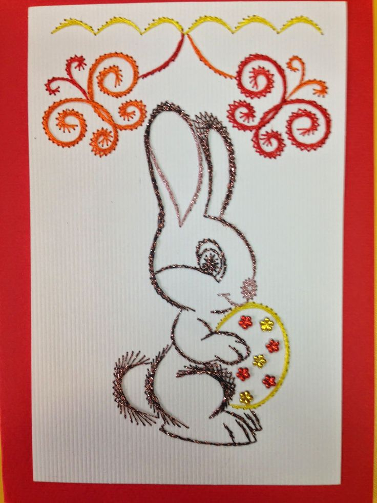 289 Best Embroidery On Paper Easter Images On Pinterest String