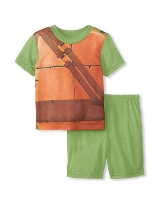 53% OFF Kid's Ninja Turtle 2-Piece Pajama Set (Green)