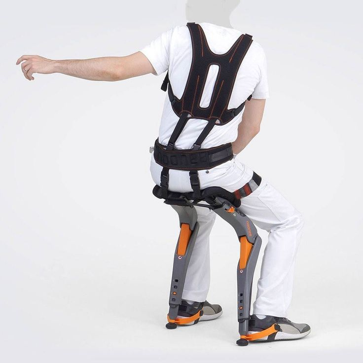 Design News - Chairless Chair Chairless Chair is a flexible exoskeleton that allows users to sit down whenever and wherever they need to eliminating the need of a chair. Developed by designers  and engineers Zuhlke for Swiss company Noone this wearable mechatronic device aims to improve the ergonomic environment of manufacturing workers that need to move frequently and hold sitting bending squatting or crouching positions  The Chairless Chair allows users to walk around freely and provides…