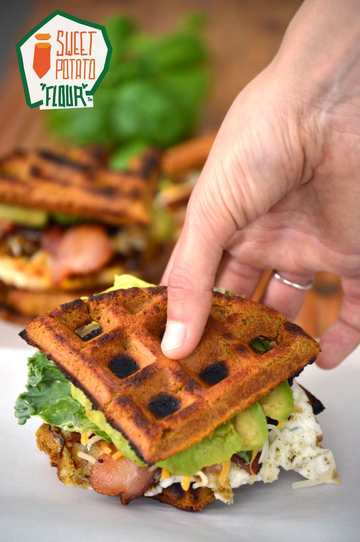 If you're looking for an easy way to switch up your breakfast, try these sweet potato waffle breakfast sandwiches. The waffles are Paleo, gluten free and just a tad sweet. Made with Anti-Grain Sweet Potato flour.