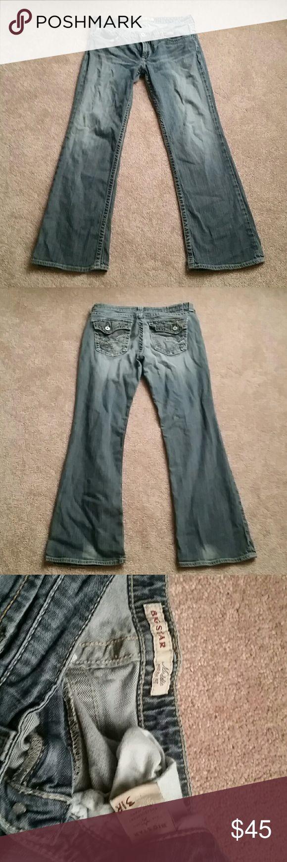 "Women's Big Star Maddie Jean's 31R No damages, cute fit, flap back pockets. Inseam 32"". Big Star Jeans Boot Cut"