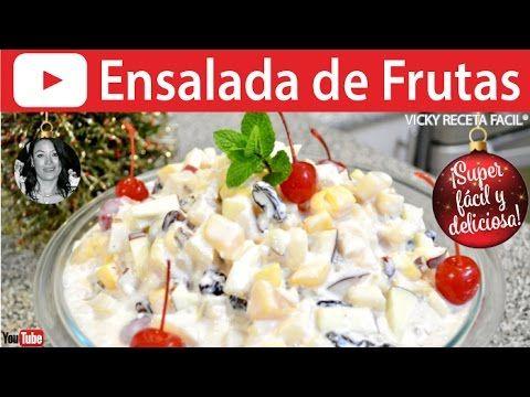 CÓMO HACER ENSALADA DE FRUTAS | Vicky Receta Facil - YouTube