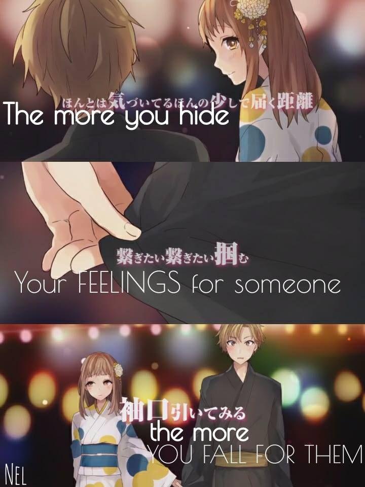 PV : Tokyo Summer session -Honeyworks Traduction :Plus vous cachez vos sentiments pour quelqu'un, plus vous tombez pour lui