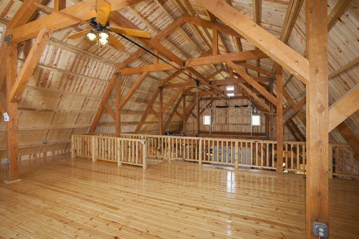 Loft in a Party Barn | Event Barn | Great Plains Gambrel | Sand Creek Post & Beam  Wood Barns & Barn Homes https://www.facebook.com/SandCreekPostandBeam