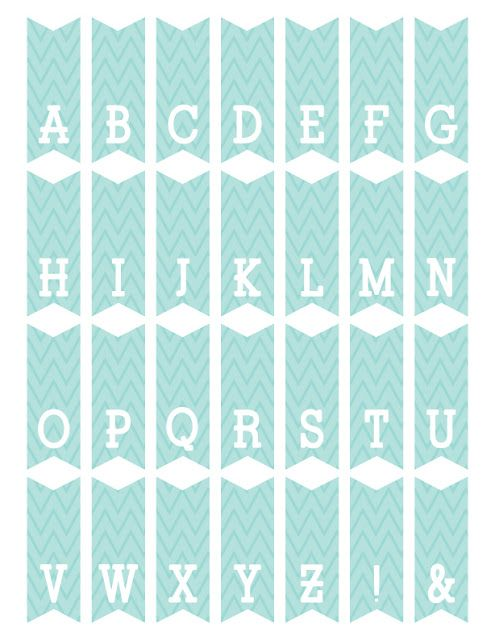 Fontaholic: FREEBIE FRIDAY: Mini Alphabet Bunting