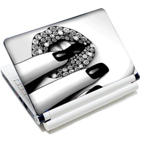 15 15.6 inch Laptop Notebook Vinyl Skin Sticker Protector Cover Art Decal Fits 13 13.3 14 15 15.4 15.5 15.6 16 HP Dell Lenovo Asus Compaq Asus Acer Computers (Included 2 Wrist Pad) - New Diamond Lips Design