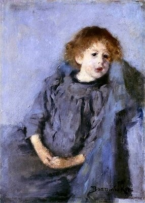 """Girl"" by Olga Boznańska, 1890"