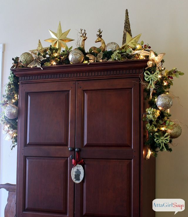 66 best cabinet top decorating images on pinterest for Christmas decorating above kitchen cabinets