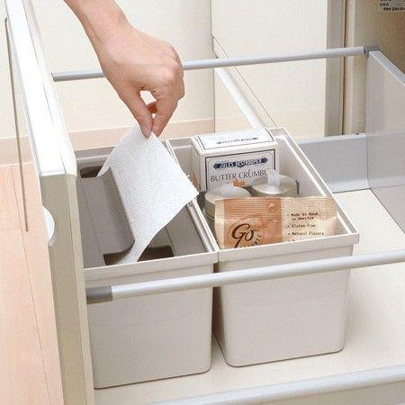 キッチン収納ケース キッチンペーパーボックス システムキッチン ... 調理台下の深引き出しに引き出し内にキッチンペーパーを清潔に収納できる専用ボックスです。 引き出し式システムキッチンの整理整頓に便利です。
