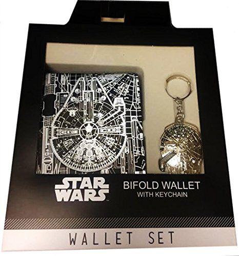 Star Wars Millennium Falcon Wallet and Keychain Box Set //Price: $29.21 & FREE Shipping //     #starwarscollection