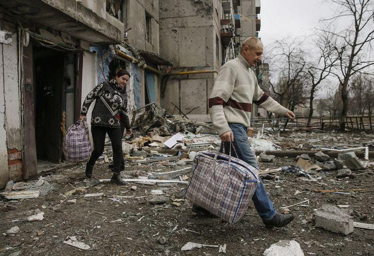 Via Laurent Brayard Russophones du #Donbass fuyant la guerre et les #Ukrainiens