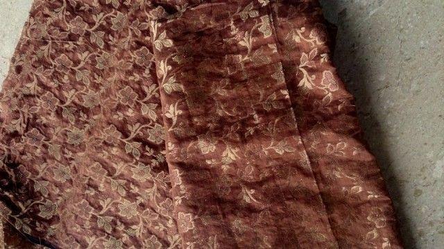 現品限2m★インド・ザリ刺繍(機械)モール刺繍★服・バッグ用素材 - ボンベネーゼ