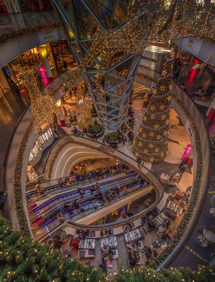 Christmas in MyZeil - The shopping mall MyZeil in Frankfurt am Main, Germany.