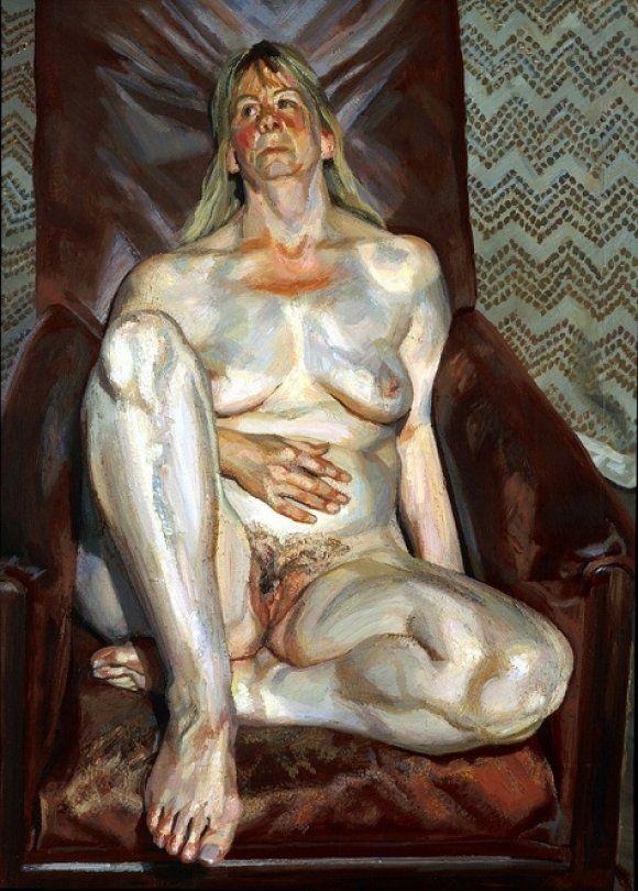 Desnudo sobre una silla roja 1999 Lucien Freud