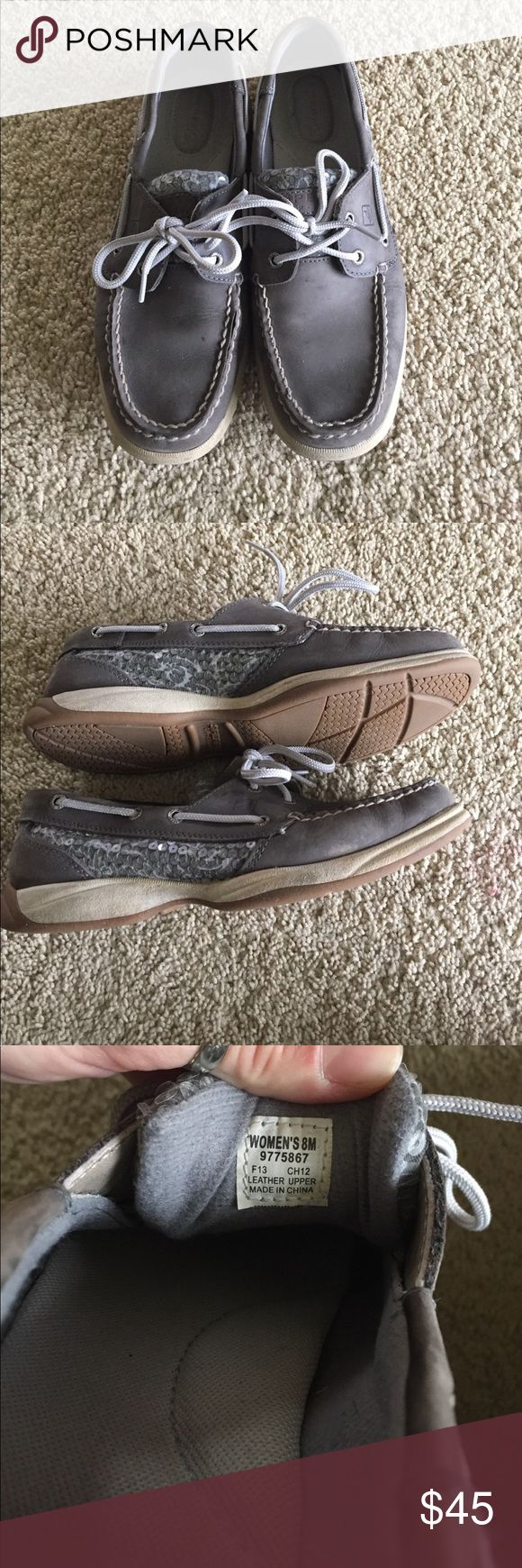 Sperry top sider shoes Size 8 and in good condition. Needs a good cleaning and couple tiny dots on top!!! Sperry Top-Sider Shoes Flats & Loafers