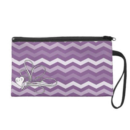 Girly Heart Swirl Purple Chevron Wristlet Purse - girly gift gifts ideas cyo diy special unique