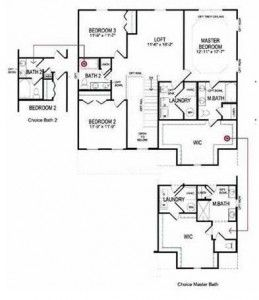 Whether it s a double vanity an open kitchen or a media for Choice homes floor plans