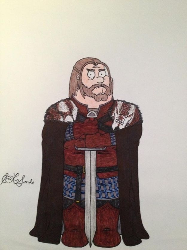 Peter (Ned Stark) | If The Cast Of 'Family Guy' Were In 'Game Of Thrones'