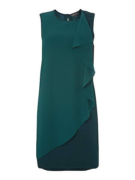 Waterfall chiffon dress