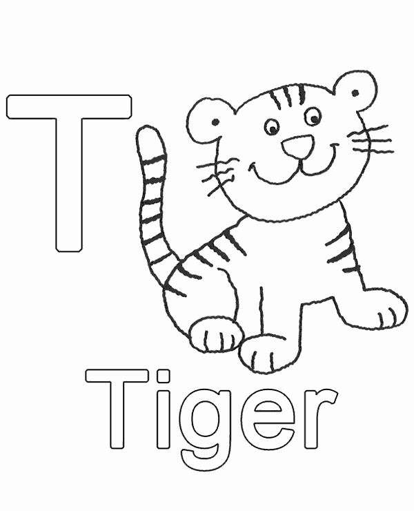 Letter T Coloring Page Unique High Quality Letter T To Print For Free Letters For Kids Coloring Pages Abc For Kids