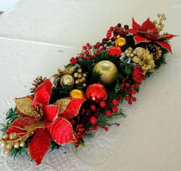 Centro De Mesa Natal Arranjo De Natal Grande Arranjos De Flores