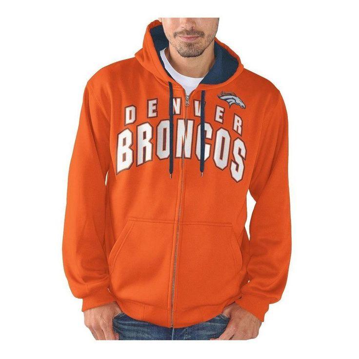 NFL Denver Broncos Full Zip Hooded Fleece Sweatshirt [Men's Medium]