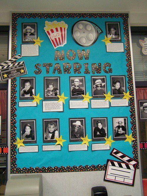 School Library Bulletin Board Ideas | ... Bulletin Board Idea » Now Starring Back To School Bulletin Board