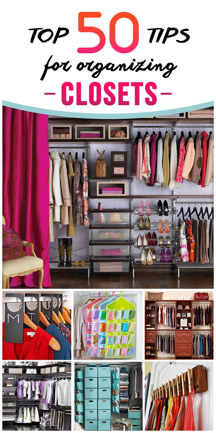 Best Closet Organization Tips Ideas On Pinterest Closet - Cool diy coat rack for maximizing closet space