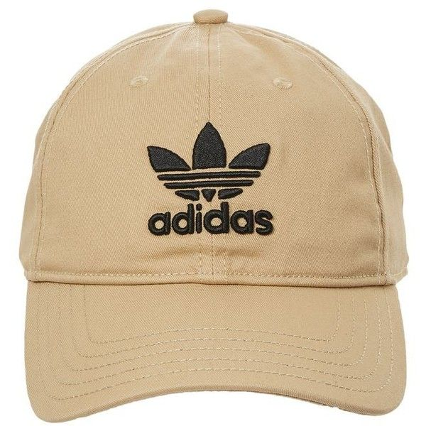 Trefoil Cap by Adidas ($19) ❤ liked on Polyvore featuring accessories, hats, stone, sport hats, adidas, adidas hat, cap hats and sport caps